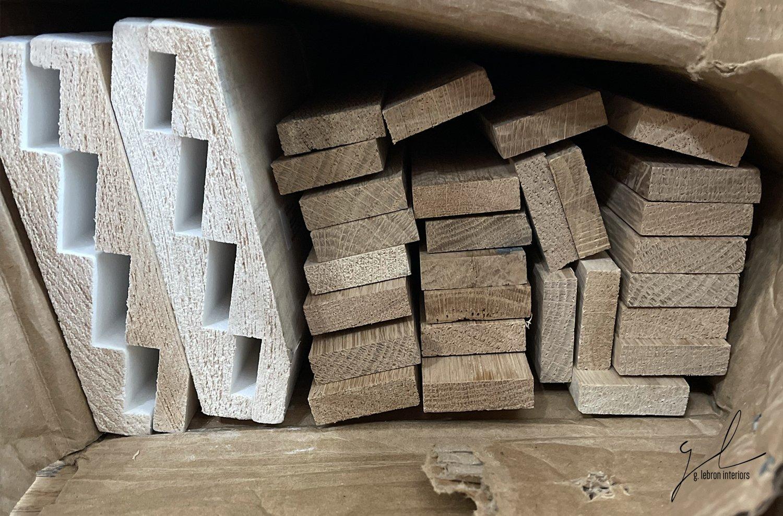 Moulding and wood slats
